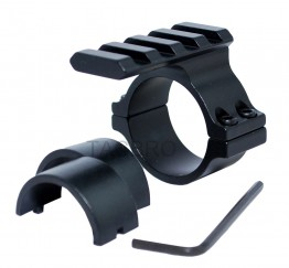 "Scope Barrel Mount 1"" - 25mm & 30mm Ring Adapter with 20mm Weaver Picatinny Rail"