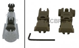 Polymer Flip-up Front and Rear Sight - Tan
