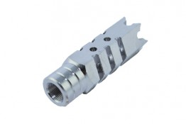 Stainless AR .223 Shark Muzzle Brake Pressure Reducer 1/2x28 Pit