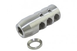 Stainless  AR .223 TPI Competition Compact Muzzle Brake