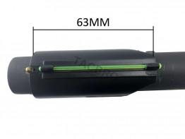 Snap-on Green Fiber Optic Universal Front Sight For Shotgun Barrel 12 / 20 Ga