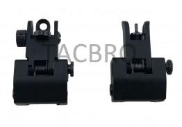 Mini Flip-up Front & Rear Sight - Black