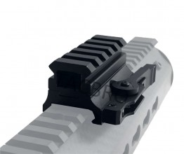 "5 Slot Quick Release 0.75"" Medium Profile Riser SEE-THRU Mount For 20MM Rail"