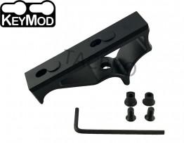 KeyMod Handguard Rail Angled Foregrip Front Short Skeleton Grip Finger Stoper