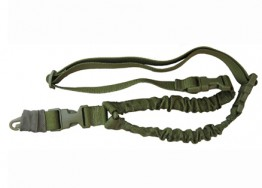 GREEN ONE POINT BUNGEE RIFLE SLING