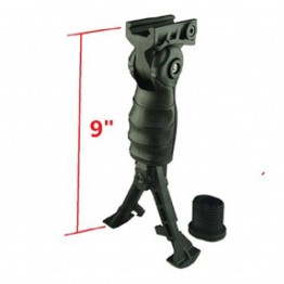 5 Position Ergonomic Folding Foregrip Grip Battery Storage With Removeable Bipod