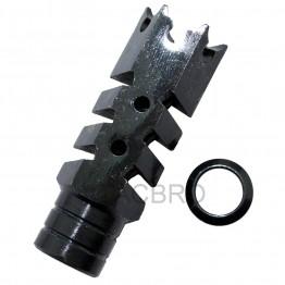 AR15 .223 Shark Muzzle Brake Pressure Reducer 1/2x28 Pitch Thread