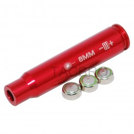 Aluminum 8MM Red Laser Boresighter Cartridge Bore Sighter