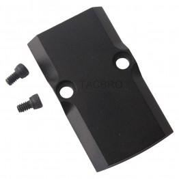 GCP Black Anodized Aluminum Trijicon RMR Cover Plate for Glock 17 19 26 Cut Slides
