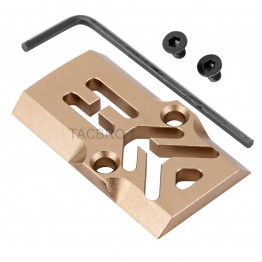 GCP-101#-Tan Anodized Aluminum Trijicon RMR Cover Plate for Glock 17 19 26 Cut Slides