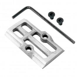 GCP-108# Raw Aluminum Trijicon RMR Cover Plate for Glock 17 19 26 Cut Slides