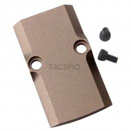 GCP Tan Anodized Aluminum Trijicon RMR Cover Plate for Glock 17 19 26 Cut Slides