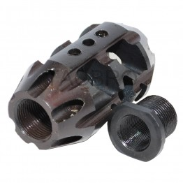 All Steel 1/2x36 Thread Pitch Muzzle Brake Compensator for 9MM