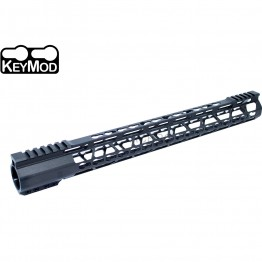 "223 17"" Ultra Light Super Slim Free Float Keymod Handguard Clamp-on"