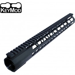 "308 Anodized 15"" Ultra Light Super Slim Keymod Handguard with Steel Barrel Nut"