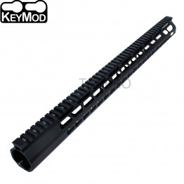 "308 Anodized 19.25"" Ultra Light Super Slim Keymod Handguard With Steel Barrel Nut"
