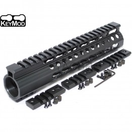 "9"" Keymod Super Slim Free Float 223 Handguard with Steel Barrel Nut"