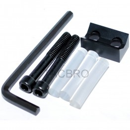 Aluminum Ruger 10/22 1022 SR-22 V-block V Block Stabilizer, With Bolt Screw and 3pcs Buffer