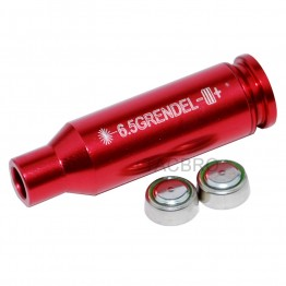 6.5 Grendel Red Laser Bore Sighter, Aluminum Red Anodized Finish