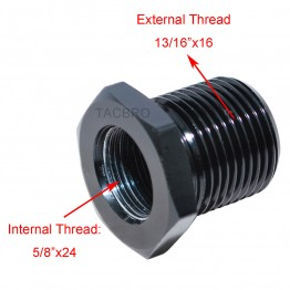 """Aluminum 5/8""""x24 TPI to 13/16""""x16 TPI Oil Filter Adapter for 308"""