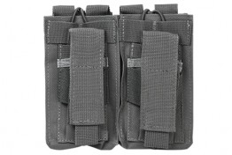 Double AR and Pistol Mag Pouch - Urban Gray