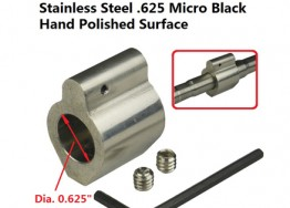 ".625"" Low Profile Stainless Steel Gas Block"