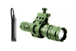 180 LUMEN FLASHLIGHT W/ 45 DEGREE OFFSET MOUNT (GREEN)