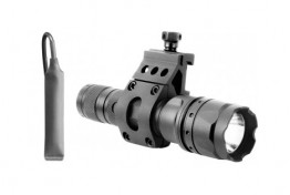 500 LUMEN FLASHLIGHT W/ 45 DEGREE OFFSET MOUNT (BLACK)