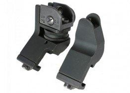 Back-up Sights with 45 Degree Mounts - Black