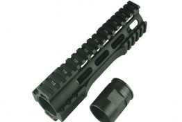AR New Free Float Modular Quad Rail Steel Barrel Nut,Gas Port Al