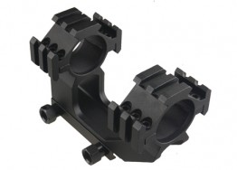 Offset 2-Inch Center Height One Piece Scope Ring Mount for 30mm