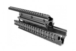 "SAIGA 12G QUAD RAIL HANDGUARD W/ 10.5"" TOP RAIL"