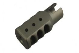 Aluminum Muzzle Brake for Ruger 1022, Tungsten Color Hard Anodiz