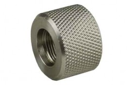 .223 Bull Barrel Stainless Steel Thread Protector, 1/2x28 Pitch