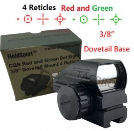 Red and Green Micro Dot Sight 3/8 Dovetail For Air Soft