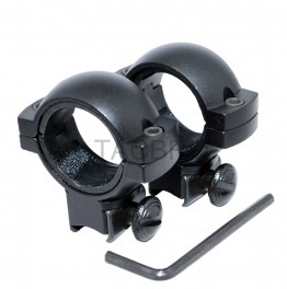 "30MM Medium Profile Scope Ring with 25MM Insert for 3/8"" Dovetail"