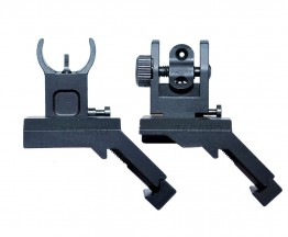 45 Degree Black Anodized Aluminum Flip-up Front & Rear Sights