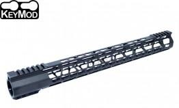 "223 17"" Ultra Light Super Slim Free Float Keymod Handguard Clamp-on"