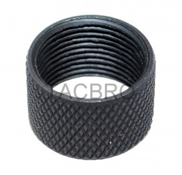 49/64x20 TPI Thread Protector For .50 Beowulf Muzzle Thread knurlled Surface
