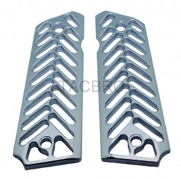 Skeleton Silver Anodized Aluminum 1911 Grips Fit Gov. and Clones