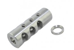 Stainless AR .223, TPI Competition Muzzle Device, 1/2x28 Pitch