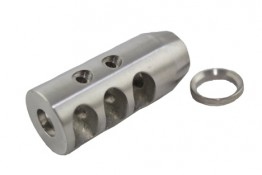 Stainless AR .308 TPI Competition Compact Muzzle Brake