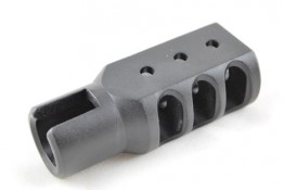 Aluminum Muzzle Brake for Ruger 1022, Black Hard Anodized Surfac