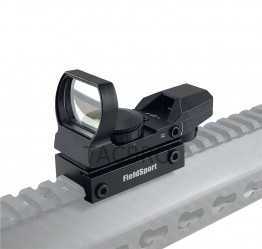 Compact Red Green Reflex Sight, 4 Reticles, Illuminated Field Sport