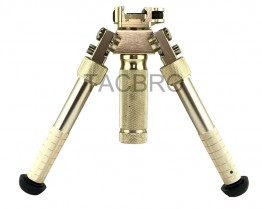"Gold Tactical Bipod Quick Detach Mount 6.5""-9"" Adjustable Fit Picatinny Rail"