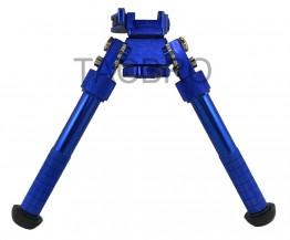 """Blue Tactical Bipod Quick Detach Mount 6.5""""-9"""" Adjustable Fit Picatinny Rail"""