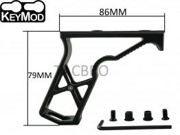 Black Keymod Super Light Skeleton Foregrip Vertical Forward Angled Grip