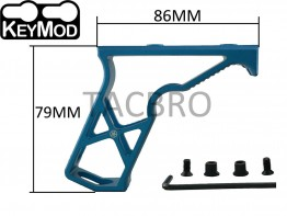 Blue Keymod Super Light Skeleton Foregrip Vertical Forward Angled Grip