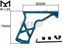 Blue M-LOK Super Light Skeleton Foregrip Vertical Forward Angled Grip Mlok