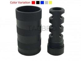 9MM Muzzle Brake 1/2x36 & 13/16-16 threaded Sound Forwarder /w Washer